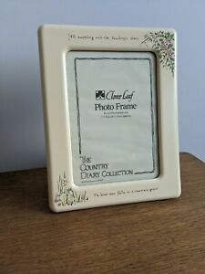 Vintage Cream Country Diary Collection Photo Frame Retro Kitsch Floral Cottage