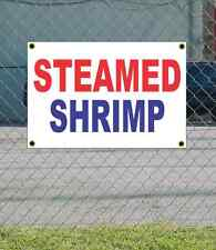 2x3 STEAMED SHRIMP Red White & Blue Banner Sign NEW Discount Size & Price