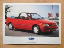 FORD ESCORT MK5 CABRIOLET orig 1990 UK Mkt unused factory postcard - brochure