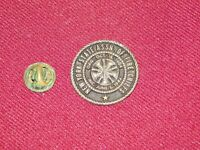 VINTAGE PIN PINBACK NEW YORK STATE ASSN OF FIRE CHIEFS