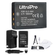 KLIC-5001 Battery + Charger + BONUS for Kodak EasyShare P850 P880 DX6490 DX7440