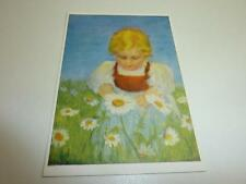 "vintage blank 70` greeting cards  Spötl""child in the flower field""137"""