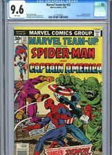 Marvel Team-Up #52 CGC 9.6 WP Spider-Man Captain America Marvel Comics 1976