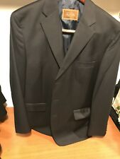 "Men's navy 100% wool ""Tasso Elba"" 44L blazer suit jacket new without tags"