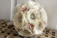 Shabby Chic Vintage Brooch Bouquet Bridal Wedding POSIE MADE TO ORDER any colour