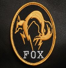 METAL GEAR SOLID FOXHOUND LOGO PS4 COSPLAY BLCK OPS VELCRO® BRAND FASTENER PATCH