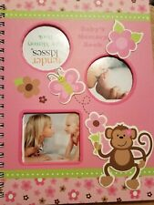 """Tender Kisses Little Monkey Baby Memory Book Pink Color & 13"""" Plush Nwt"""