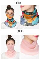 Women's Chiffon Printed Summer Sunscreen Lightweight Neck Protection Face Masks