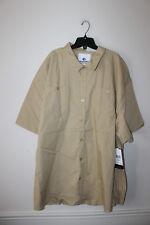 New With Tag Akademiks button down long sleeve Khaki dress shirt men's 6XL
