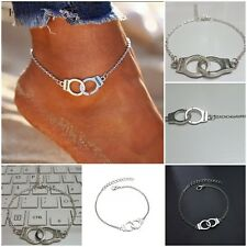 Unisex Silver Plated Adjustable Handcuff Freedom Friendship Gift Anklet