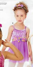 NWT Ballet Costume Girls size 2-3 Roses Beauty Pageant Sweet Chiffon Lilac