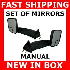 NEW MIRROR 94-01 DODGE RAM PICKUP TRUCK MANUAL TOWING TOW SET PAIR