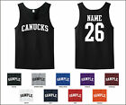 Canucks Custom Personalized Name & Number Tank Top Jersey T-shirt