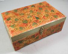 Vintage McGraw Box Company Hand Painted Signed Wood Jewelry Storage Box