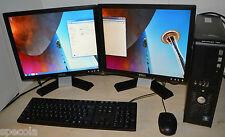 """Dell PC Core 2 Duo 1TB HDD 8GB DDR3 WiFi Windows 7 Dual Screen TFT 2 x 17"""" DELL"""