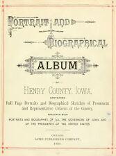 1888 HENRY County Iowa IA, History and Genealogy Ancestry Family Tree DVD B38