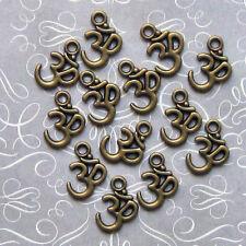 BULK 50 OM Charms Antique Bronze Tone - BC265