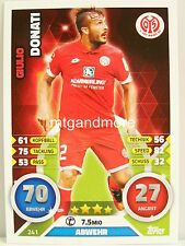 Match Attax 2016/17 Bundesliga - #241 Giulio Donati - 1. FSV Mainz 05