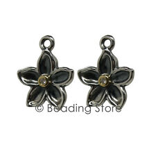 NEW Pandora Genuine Gold Silver Diamond Flower Compose Earring Pendants 290638D