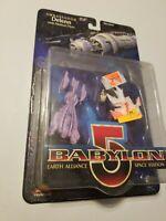 NEW IN BOX OLD STOCK BABYLON 5 AMBASSADOR DELENN ACTION FIGURE  b
