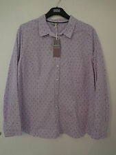Marks and Spencer Striped Fitted Cotton Women's Tops & Shirts