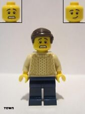 Lego Figure Male with Tan Knit Sweater - twn388