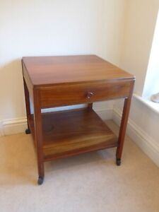 Vintage Retro Teak Two Tier Table With Top drawer For Bedside Or Lounge