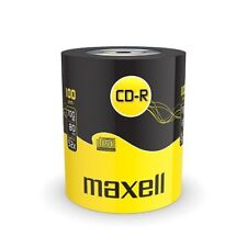 Maxell CD-R 700 MB 80 Minutes 52X Speed Recordable Blank CD's Discs - 100 Pack