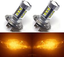 LED 80W H7 Orange Amber Two Bulbs Head Light Low Beam Replacement Lamp OE