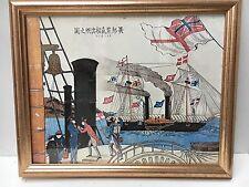 Vintage Framed Art Print Maritime Scene