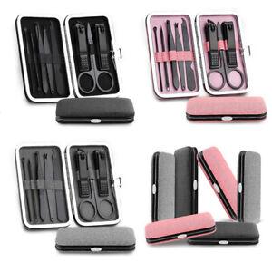 8pcs Manicure Set Nail Clipper Earpick Grooming Pedicure Kit Men Women Home Tool
