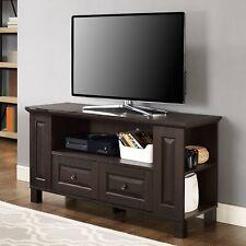 Espresso Wooden TV Stand Entertainment Center Media Storage Console Cabinet 44W