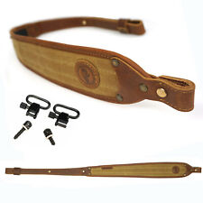 Leather with Waxed Canvas Rifle Sling Gun /Shotgun Straps 2 Points Adjustable