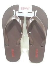 ESPIRIT Men's Caribbean Sandal Flip Flop Dark Brown Size 11