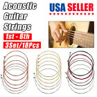 3 x Set of Guitar Strings Replacement Colorful Steel String for Acoustic Guitar <br/> ⭐2500+ SOLD⭐3 Set/18 PCS⭐Best Seller⭐USA Fast Shipping