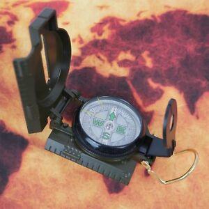 Kompass Lensatic Compass Wasser und Land Lupe Camping Peil und Marsch