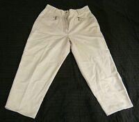 Damenhose,Gr. M,weiß,100% Baumwolle,vorn 2  Reißverschlußtaschen,1 Gesäßtasche
