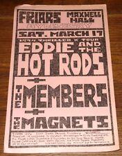 EDDIE HOT RODS MEMBERS FRIARS AYLESBURY MAXWELL HALL 1979 ORIGINAL POSTER FLYER