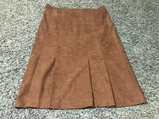Travables Of Dallas Size 16 Vintage Brown Pleated Skirt