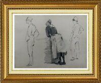 CHARLES WISLIN (1852-1932) SCENE NORMANDE A FECAMP EN  1879 (648)