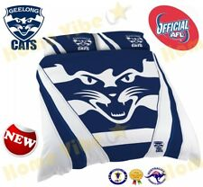 OFFICIAL AFL 2018 GEELONG CATS QUILT DOONA DUVET COVER SET BRAND NEW DOUBLE SIZE