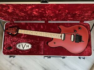 """EVH WOLFGANG """"Special"""" Satin Red Guitar and new EVH Wolfgang Striped Case!!"""