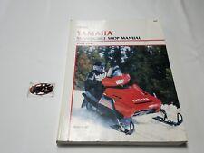 YAMAHA Snowmobile (1984-1989) CLYMER Shop service manual book