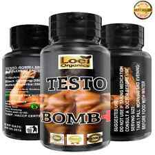 60 BIG 600mg TESTO BOMB STRONG MAXIMUM LEGAL TESTOSTERONE MUSCLE BOOSTER GROWTH