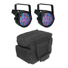 Chauvet DJ SlimPAR 38 LED DMX SlimPar Can Light Effect (2 Pack) + Transport Bag