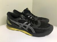 Size 15 Asics Gel Nimbus 21 Men's Gray Black Yellow FlyteFoam Running Shoes