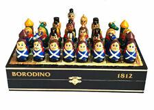 Toy Wooden / Wood Traditional Russian -game D'Échec- Borodino-Souvenir