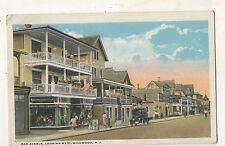 Oak Avenue Looking West WILDWOOD NJ Vintage New Jersey Shore Postcard