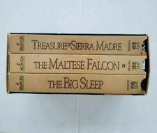 The Maltese Falcon Vhs 3 Tape Set Treasure of Sierra Madre The Big Sleep Movies