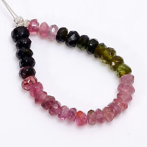 """Natural Multi Tourmaline Rondelle Shape Faceted Beads 2X2 3X2mm Strand 3"""" DK2649"""